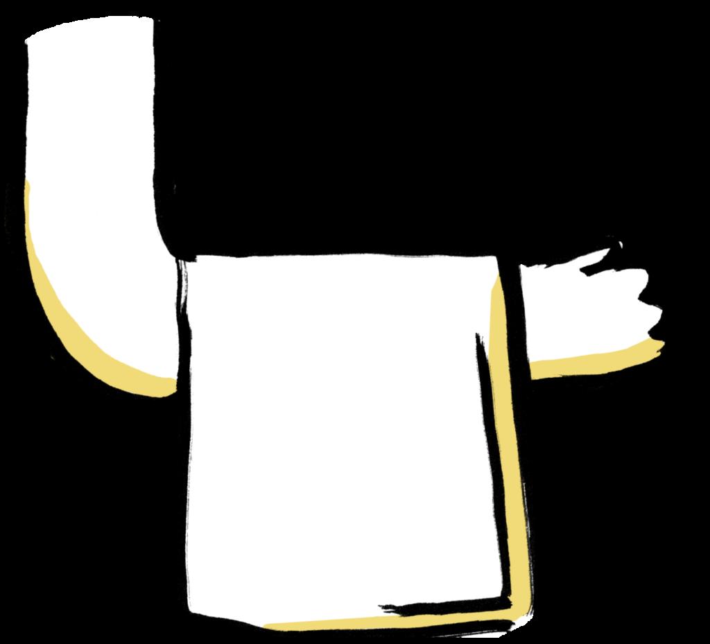 fenotte bras tenant une serviette de service