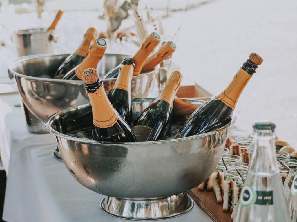 Champagne seau mariage